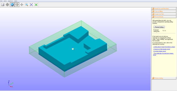 CAD file of the pewter casting is converted into a Roland SRP file