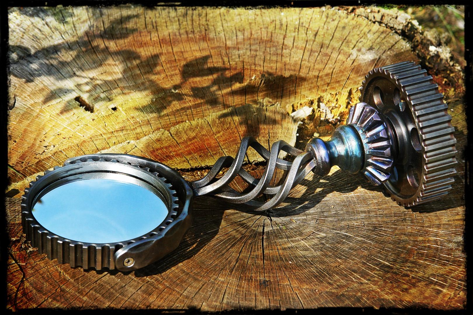 Blacksmith Upcycles Car Parts into a Beautiful Mirror