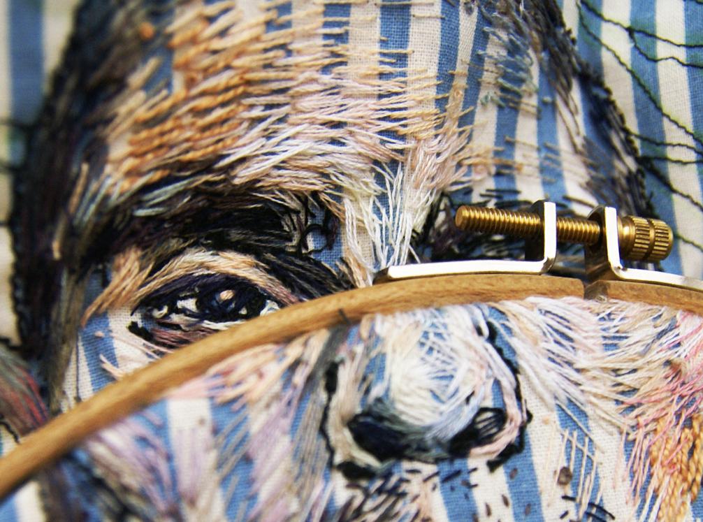 """Lisa Smirnova's Favorite """"Painting"""" Medium Is Embroidery"""