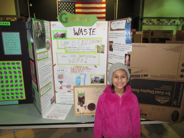 Evelyn Gasification Science Fair Photo