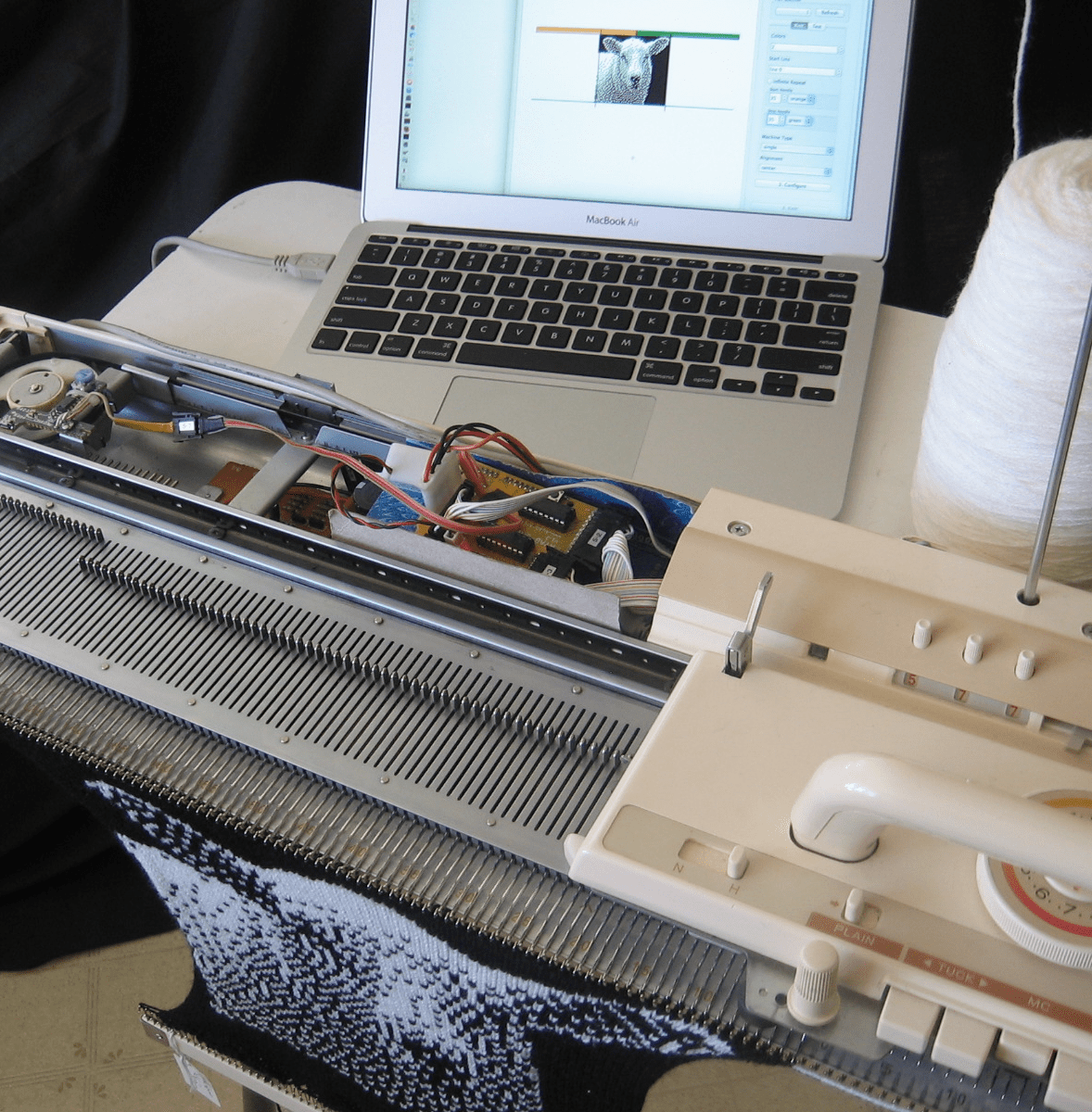 How Punch Cards and Arduino Close the Gap on Hacked Knitting