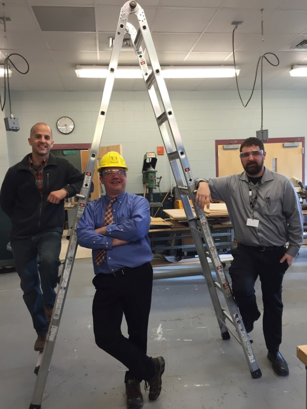 Left to Right: Greg Chandonnet, William LaBaire and Daniel Paradise; the teachers of Wachusett MakerSpace