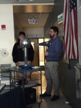 Daniel Paradise teaching his Freshman students about the Van Der Graaf and static electricity