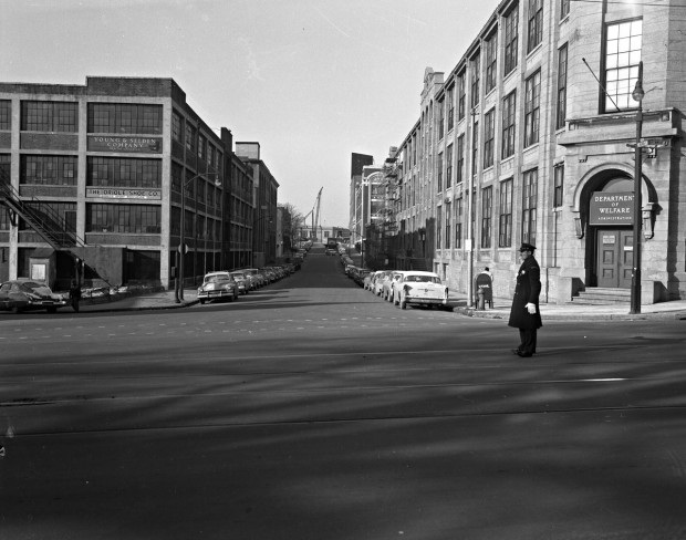 Intersection-of-Greenmount-and-Oliver-Streets,-1957.-Image-courtesy-of-Baltimore-Museum-of-Industry