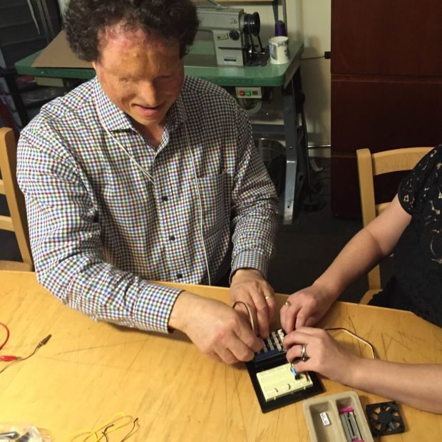In place of vision, Dr. Joshua Miele uses tactility and communication in order to tinker with electronics.