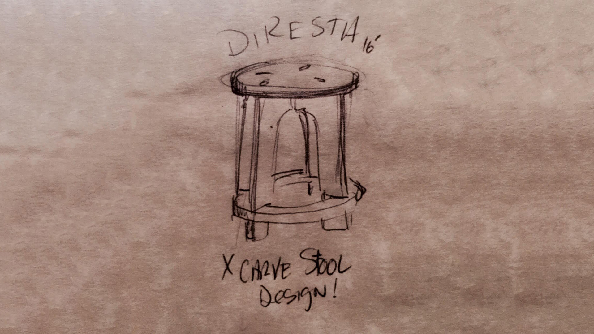 DiResta: X-Carve Stool Design