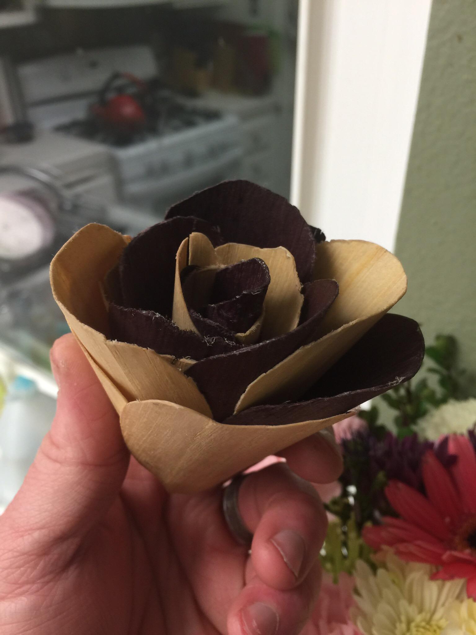 These Wood Veneer Roses Are Built to Last