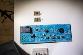 That big blue board was an AM radio, repurposed by Ben Krasnow to become one of the first sensors.