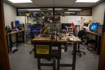 A peek into another lab area for hardware design.