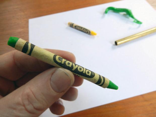 fake crayon