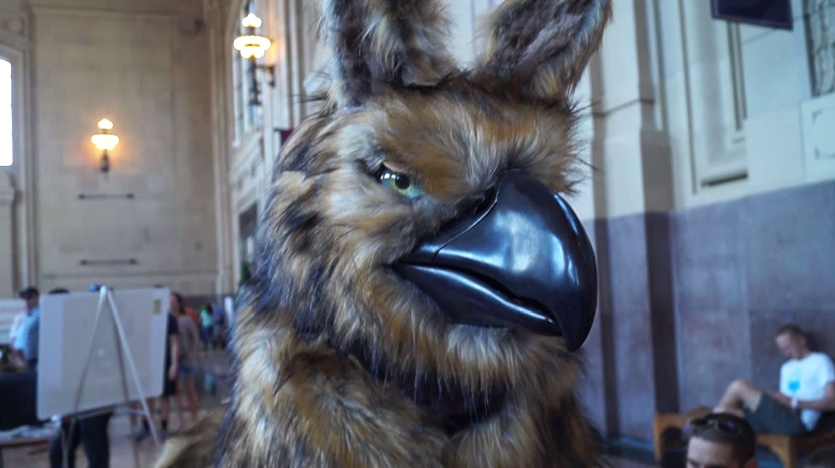 Human-Sized Griffin Puppet Wows at Maker Faire Kansas City