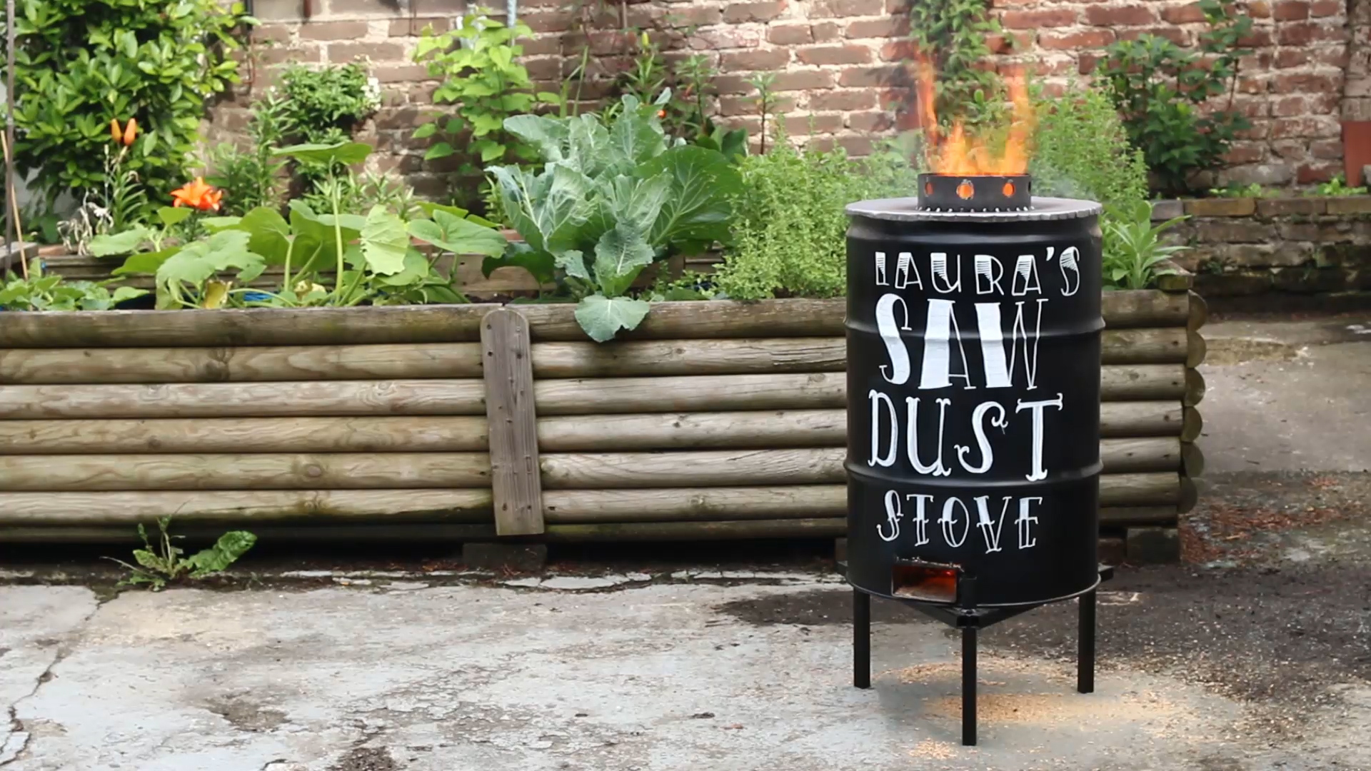 Making an Upcycled Sawdust Stove with Laura Kampf