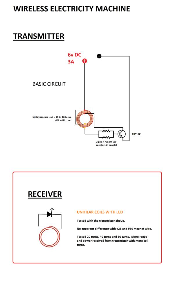 wireless LED basic schematic