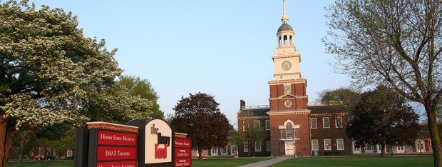 Henry Ford Museum Clocktower and Campus sign