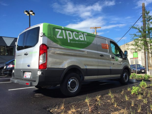 We've signed up to be a Zip Car host site to provide some vehicles as amenities to our members and the local neighborhood, and took delivery on June 30th. Image by Will Holman
