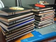 Handmade vinyl-bound journals