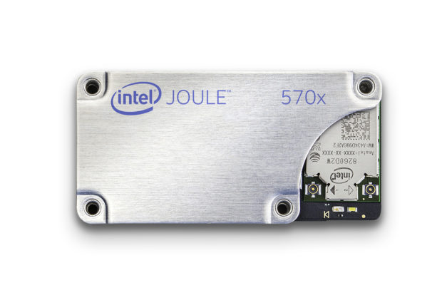Intel's latest dev kit is supposed to be more powerful and have the ability to run RealSense.