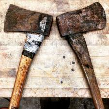 Axes before they were restored