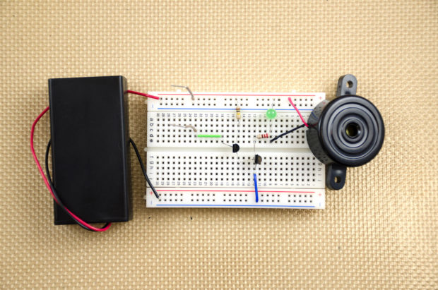 Build a Simple Transistor-Amplified Touch Switch | Make: