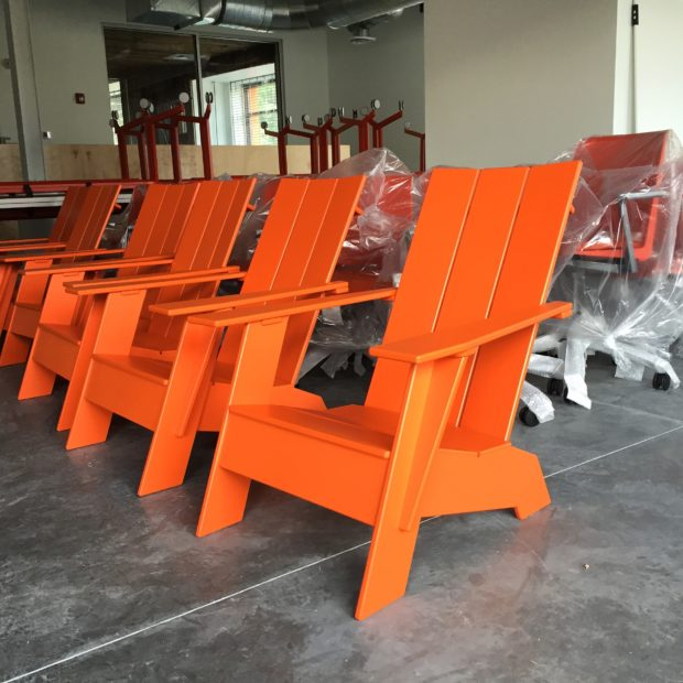Image- Our furniture delivery came in, including these awesome recycled plastic Adirondack chairs. Image by Will Holman