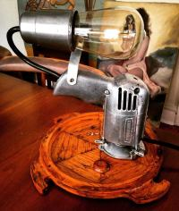 Lamp made from drill (with painting bonus in back) | Make ...
