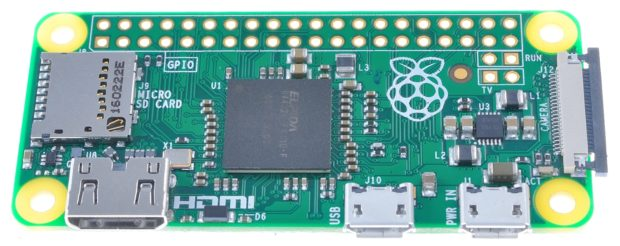 The Raspberry Pi Zero v1.3 features the same FPC connector found on the Compute Module Development Kit.