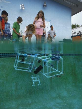 Kids launch PVC ROVs at Tackle Shack