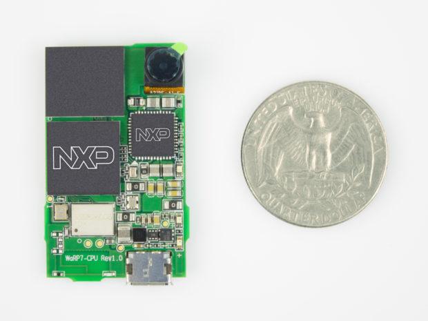 A size comparison for the WaRP7.