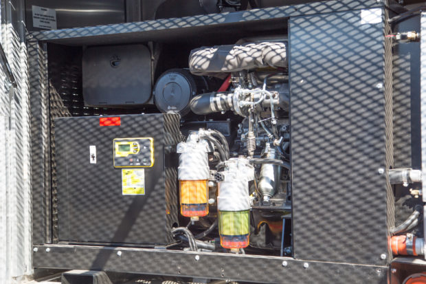 A PowerTech 50kW generator serves up to 200 amps on the Red Triangle Coffee + Provisions truck.