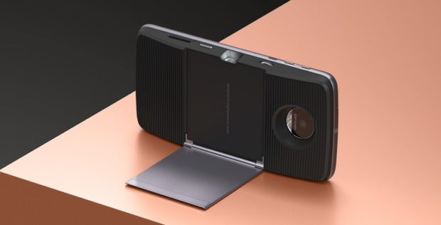 The Moto Insta-Share Projector can project media up to 70-inches in size @ a resolution of 480p, with a 1:400 contrast ratio and a brightness of 50-lumens.