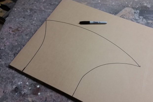 FIGURE 1-15: The shape of half the blade drawn out on the sheet