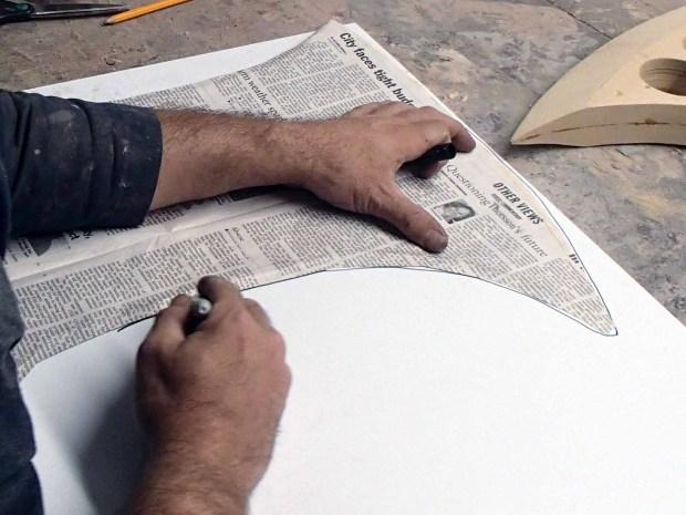 FIGURE 1-31: The shape traced onto the plastic sheet