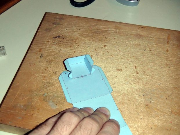 FIGURE 2-11: Gluing seams together occasionally means sticking your fingers together too.