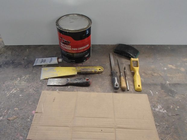 """FIGURE 2-45: The essential """"body shop"""" tools"""