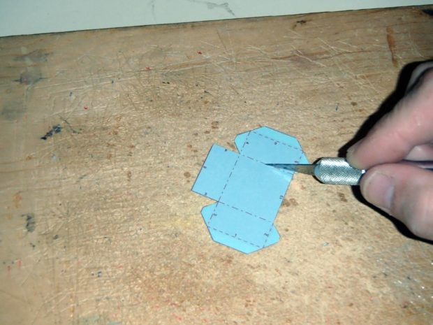 FIGURE 2-9: Cutting a little way into the cardstock