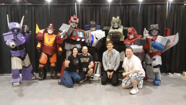 Lior with the Arizona Autobots. With DP Danit Sigler, Producer Matt Stolarz, And Optimus Prime voice actor Marc Dubos