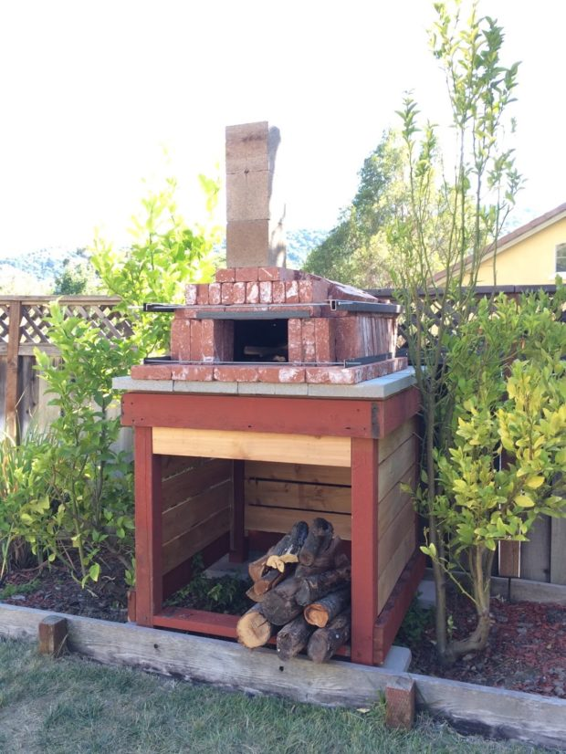 I built this oven a couple weeks ago. It's still in my back yard, getting regular use.