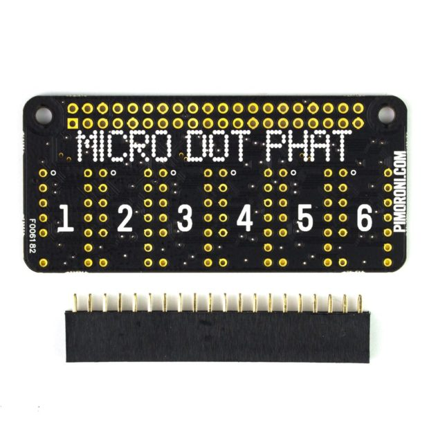 The Micro Dot pHAT is an old school LED board