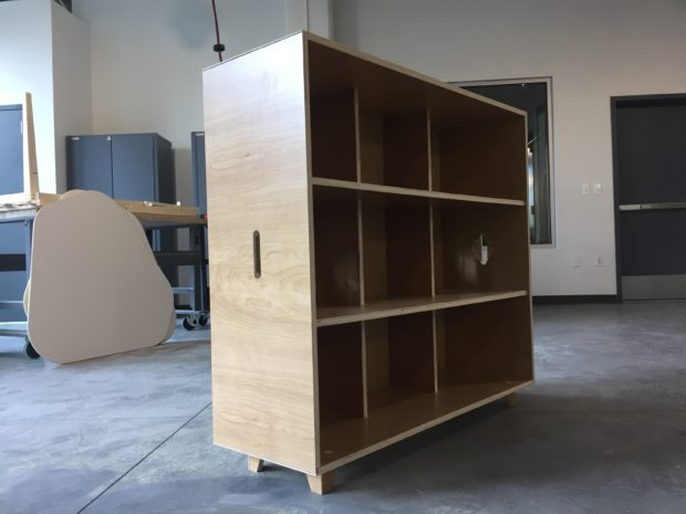 Open Desk Fin Shelf unit for our offices. Photo by Will Holman