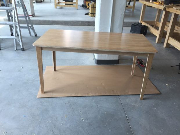 Open Desk Unit Table all done! Photo by Will Holman