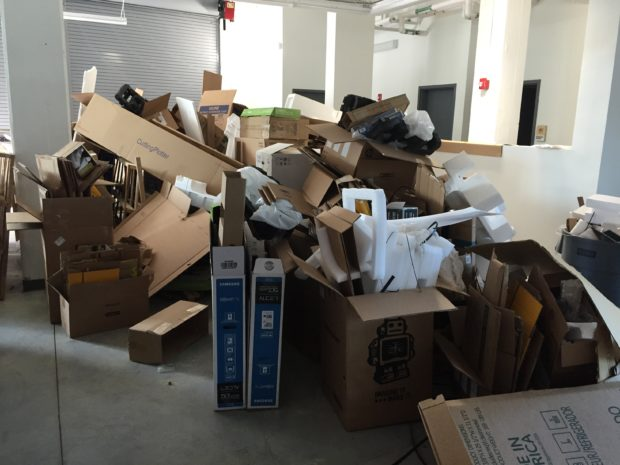 Unboxing leads to a lot of, well, empty boxes. Photo by Will Holman
