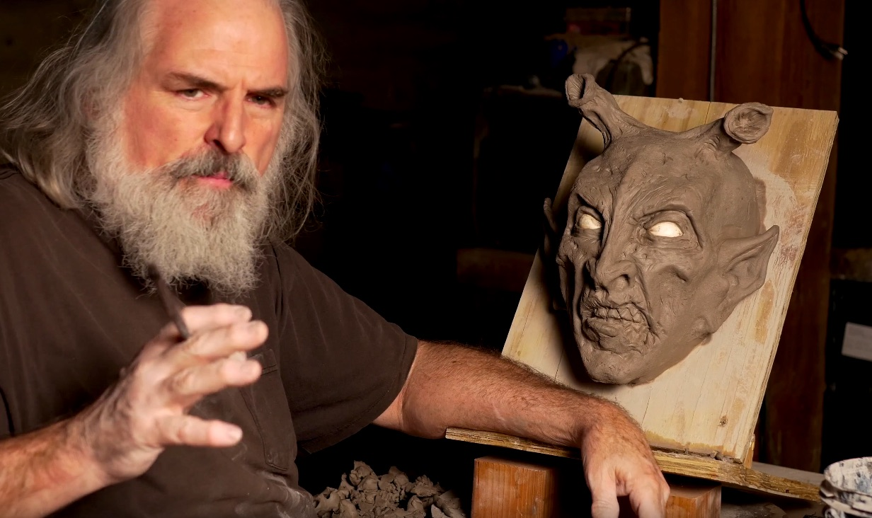 How to Sculpt a 3/4 Monster Mask for Casting