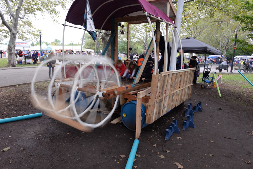 How fast can these kids spin the paddle wheel? Pretty darn fast. (Sunday, Mike Senese)