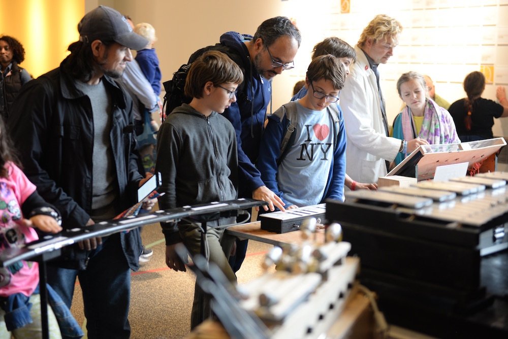 Tesla Family Instruments has been mobbed the entire weekend. (Sunday, Mike Senese)