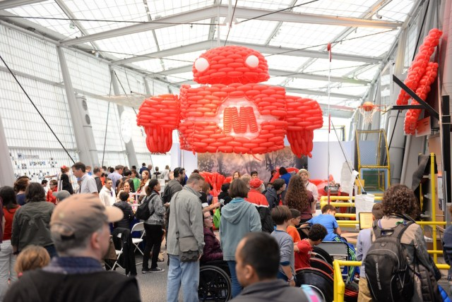 This is the biggest Makey I've ever seen and it's only getting bigger as the build continues. (Sunday, Mike Senese)