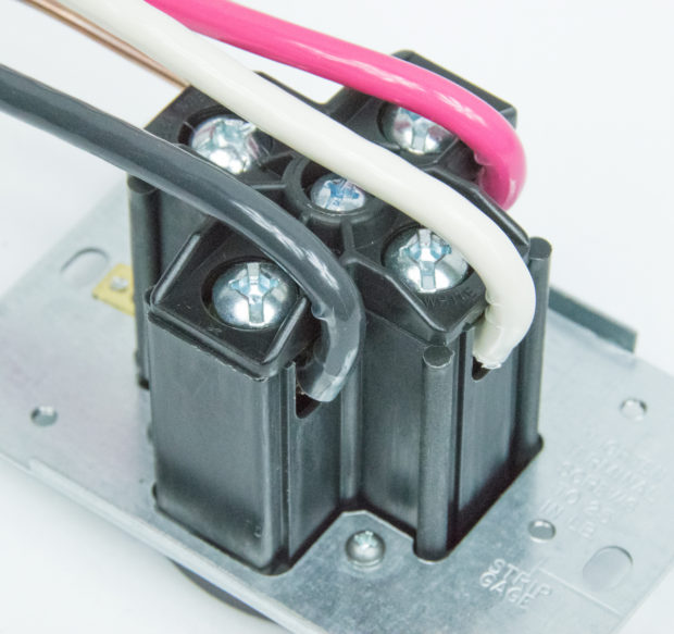Figure 19 – Wires connected to the back of the outlet