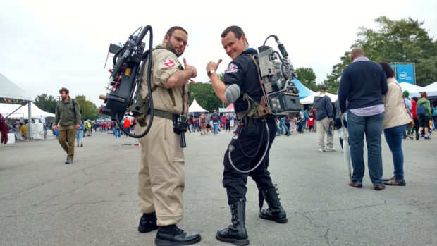 Ghostbusters Maine is here to keep Maker Faire safe from ghouls and ghosts. (12:19, Sophia Smith)