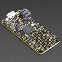 The first board to come out of Adafruit's Feather ecosystem was the 32u4 Basic Proto outfitted with an ATmega32u4 @ 8MHz, 20 GPIO and a built-in prototyping board.