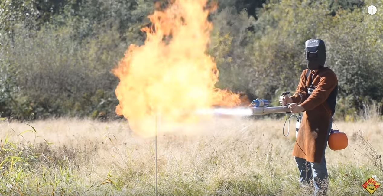 Incinerate Spiders with This Over-the-Top Flame Thrower