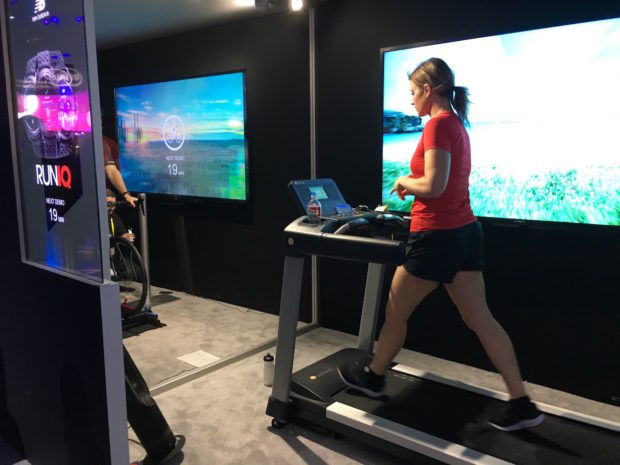 RunIQ was one of many health and fitness devices on display at CES